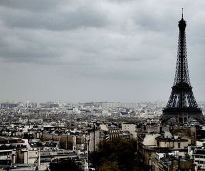 city, cloudy, and eiffeltower image
