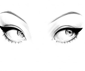 eyes, drawing, and illustration image