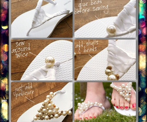 diy, shoes, and pearls image