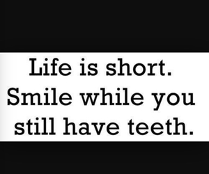 life, smile, and teeth image