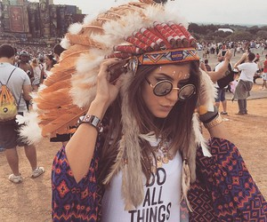 girl, coachella, and boho image