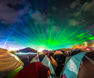 camping, dreamville, and lasers image