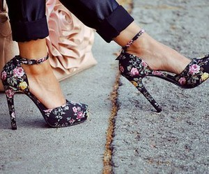 flowers, high heels, and cute image