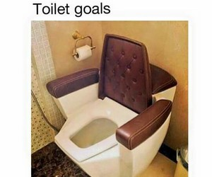 funny, toilet, and goals image