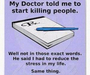 doctor, funny, and stress image