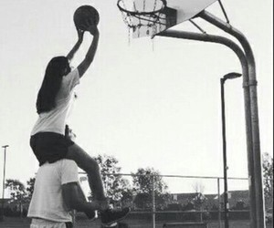 cute, Basketball, and couple image