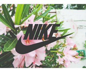 flowers, nike, and tropical image