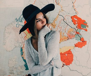 girl, map, and style image