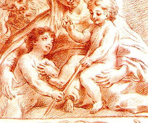 18th century, crayon, and drawing image