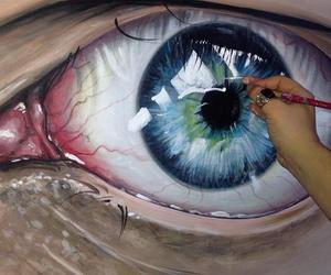 arte, dibujo, and ojo image