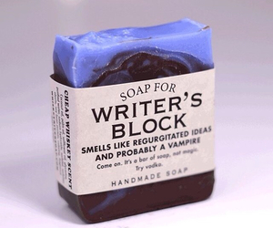 soap, ideas, and writer image