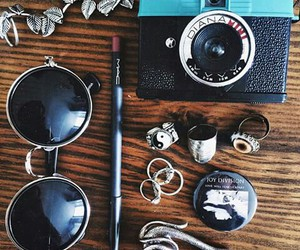 camera, glasses, and vintage image