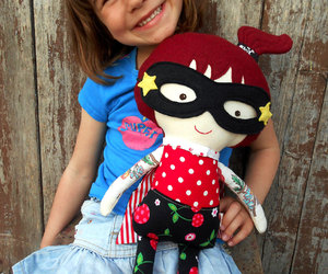 cloth doll, dolls, and kids image