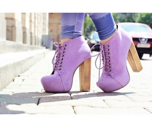 purple, heels, and shoes image