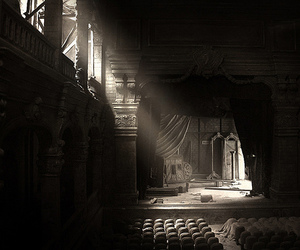ancient, black and white, and empty image