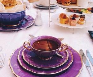 tea, purple, and cup image