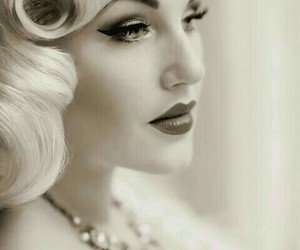 vintage, makeup, and Pin Up image