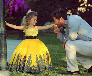 daughter, cute, and father image