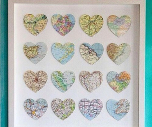 map, diy, and hearts image