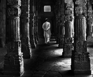 b&w, black and white, and columns image