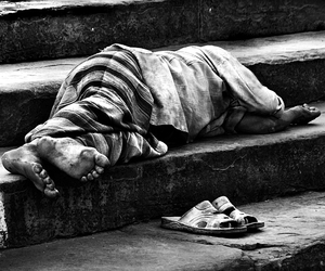 b&w, black and white, and homeless image