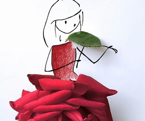 rose, violin, and art image