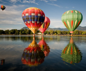 balloons, beautiful, and colorful image