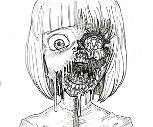 zombie, drawing, and art image