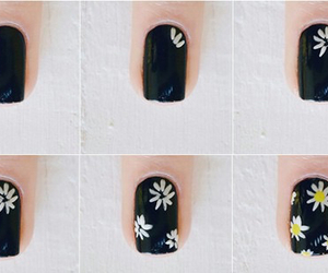 nails, diy, and flowers image