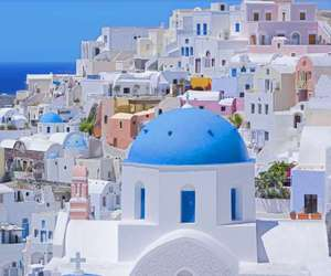 Greece, santorini, and white image