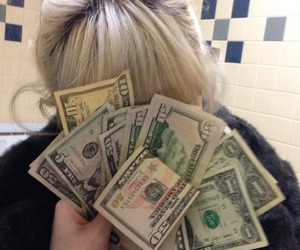 money, grunge, and pale image