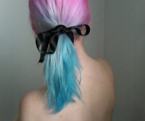 blue hair, colored hair, and indie image