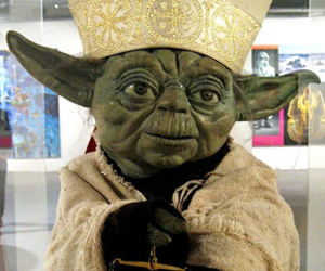 hell yeah, pope, and yoda image