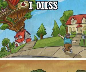 cartoon, childhood, and memories image