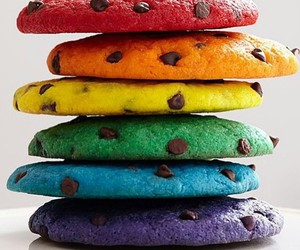Cookies, colors, and rainbow image