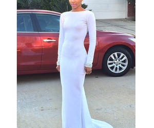 gorgeous, long dress, and white dress image