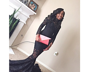 black dress, Prom, and prom2015 image