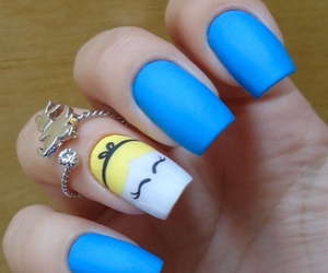 nails, alice, and blue image
