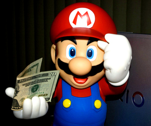 cool, money, and super mario image