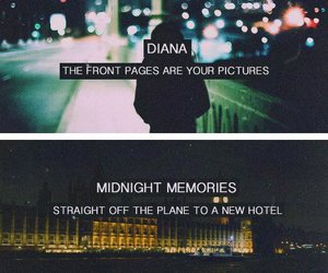 one direction, midnight memories, and diana image