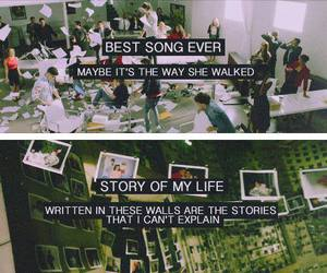 one direction, best song ever, and story of my life image
