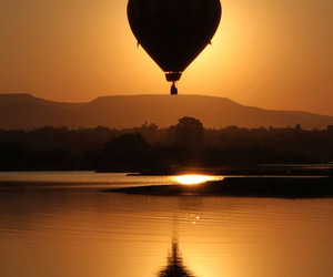 hot air balloon, photography, and silhouette image