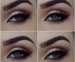 brown, eyebrows, and eyeliner image
