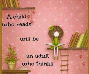 books, kids, and pink image