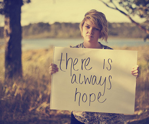 hope, text, and quote image