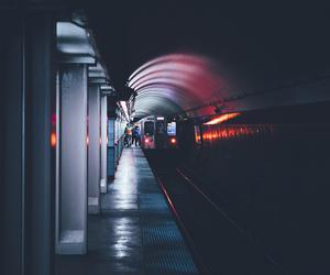 light, metro, and night image