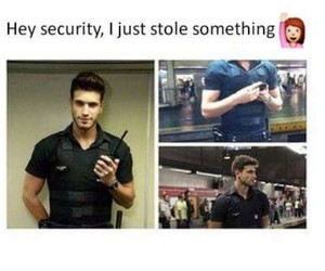 Hot, security, and funny image