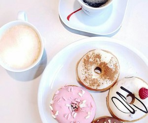 donuts, food, and girl image