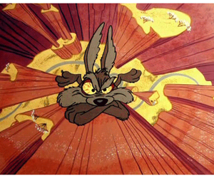 cartoons, cliff, and coyote image