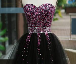 dress, black, and pink image